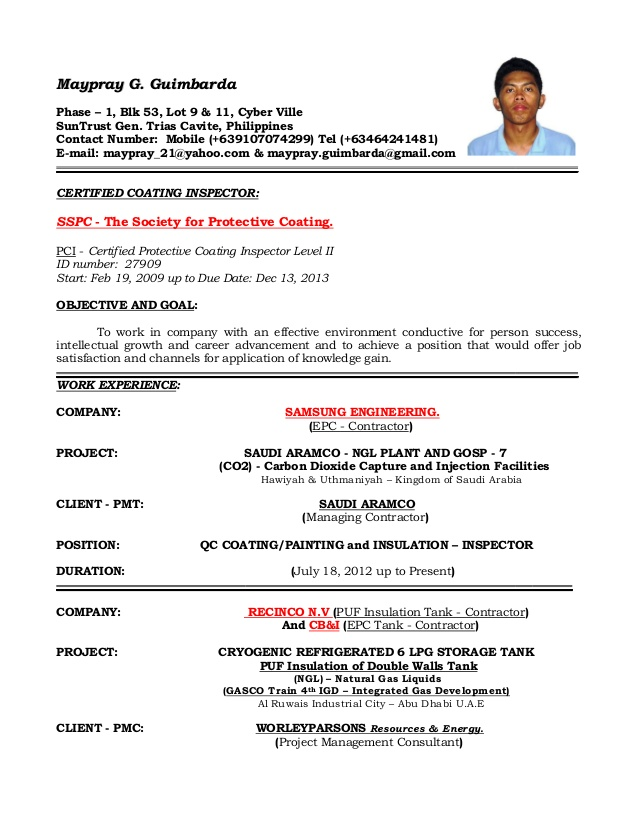 Resume Format Quality Control