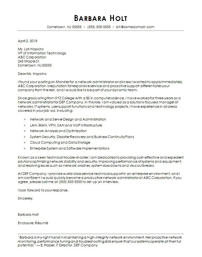 Cover Letter Template Computer Science