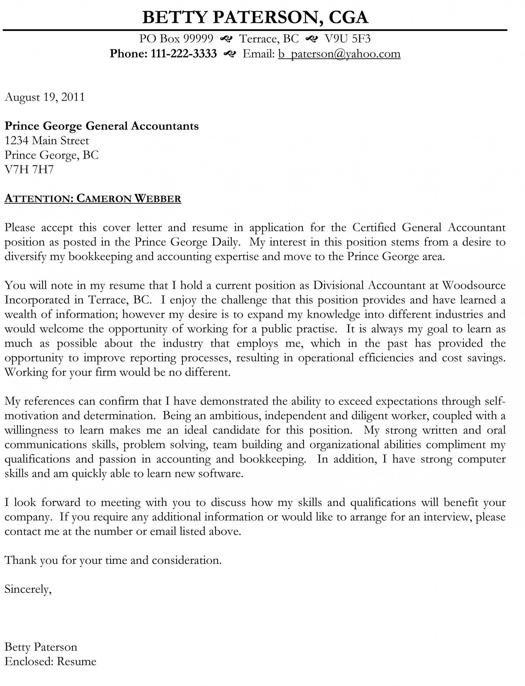 Cover Letter Template Government Of Canada