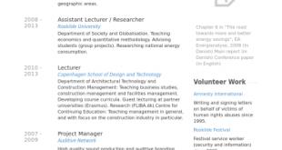 Cv Template Phd Student