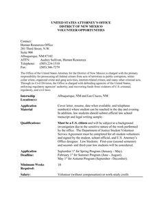 Resume Format Volunteer Experience