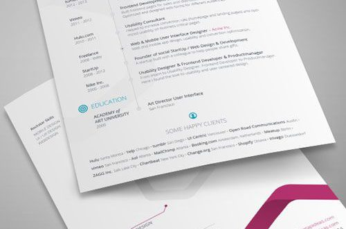 Cv Template Indesign