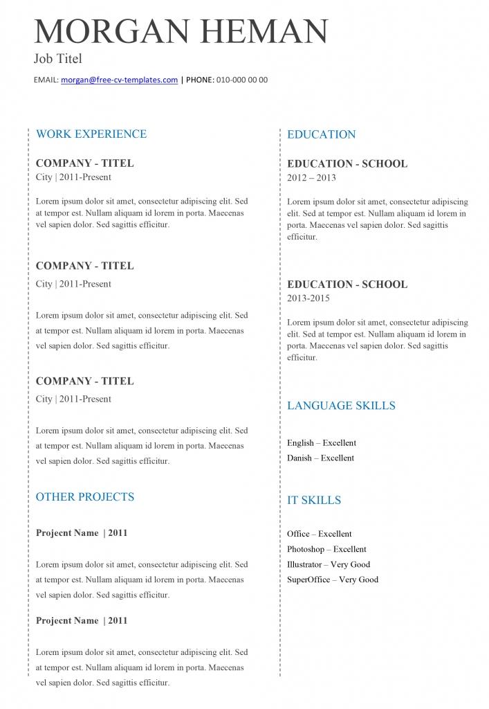cv template basic resume format