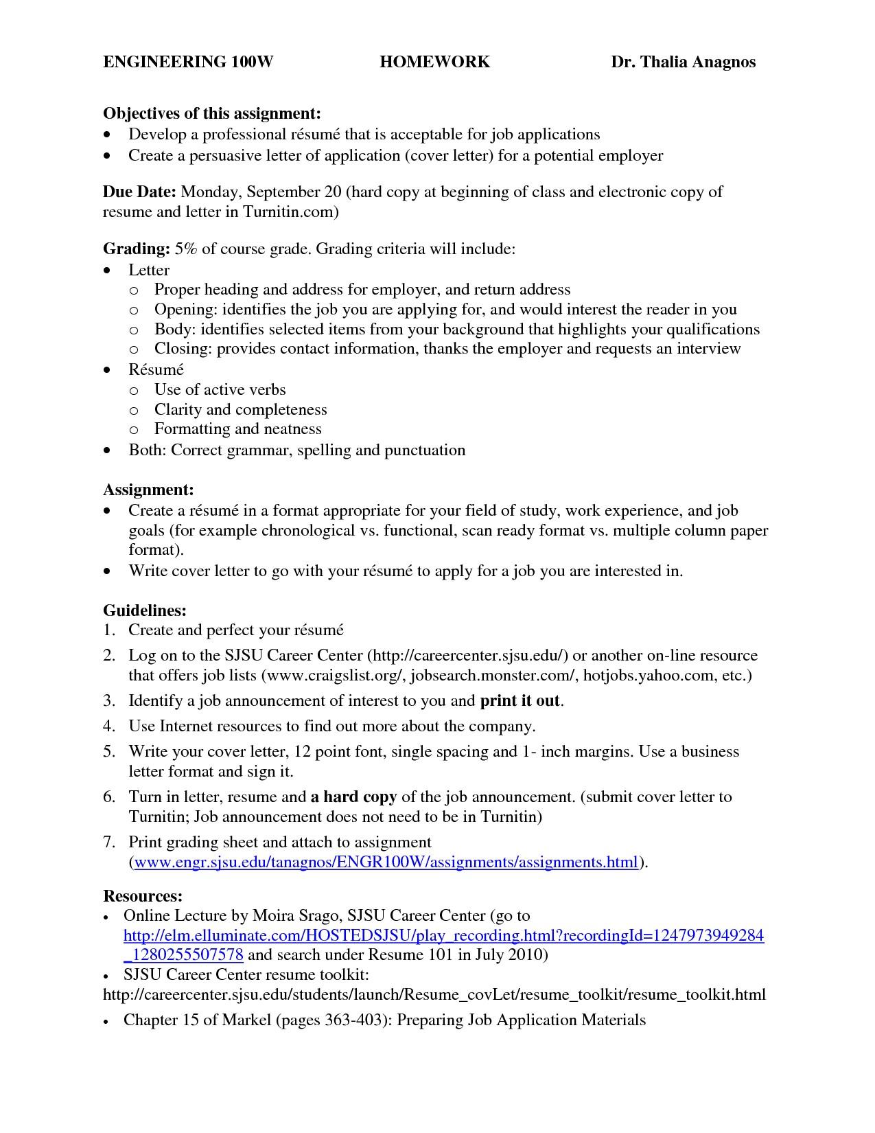 Resume Format Purdue Owl
