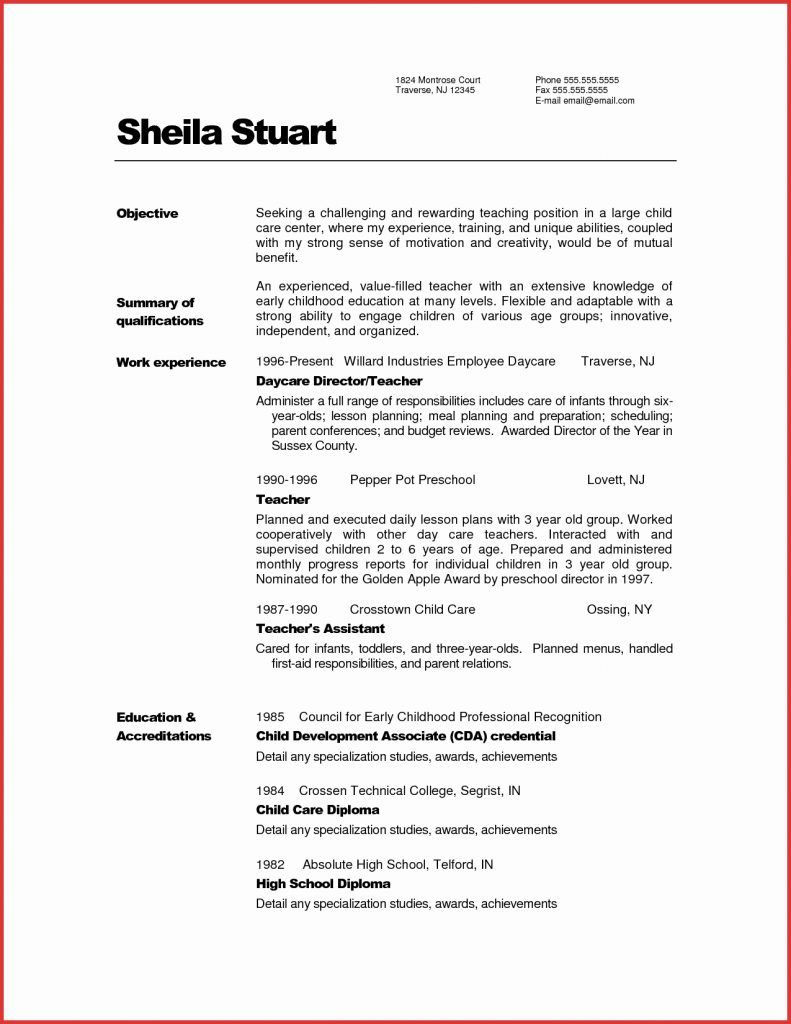 Cv Template For 50 Year Old