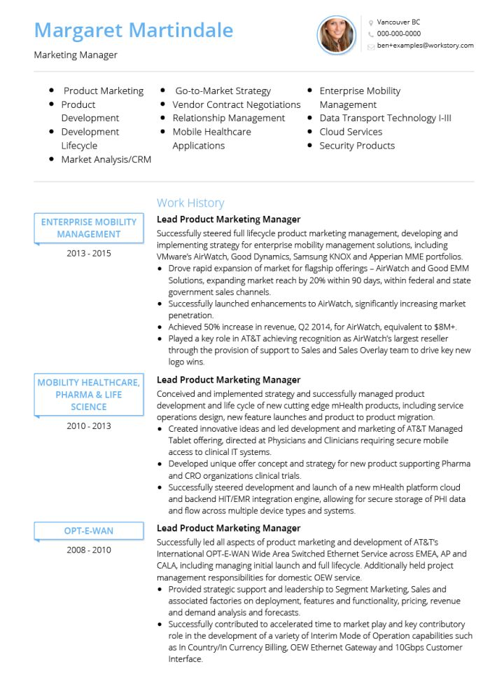 Cv Template Healthcare