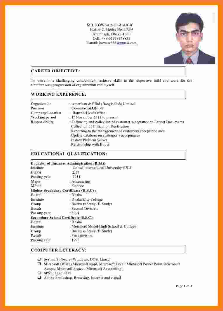 Cv Template Bangladesh  Resume