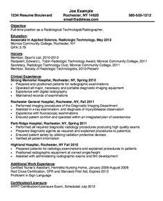 X Ray Technician Resume Format