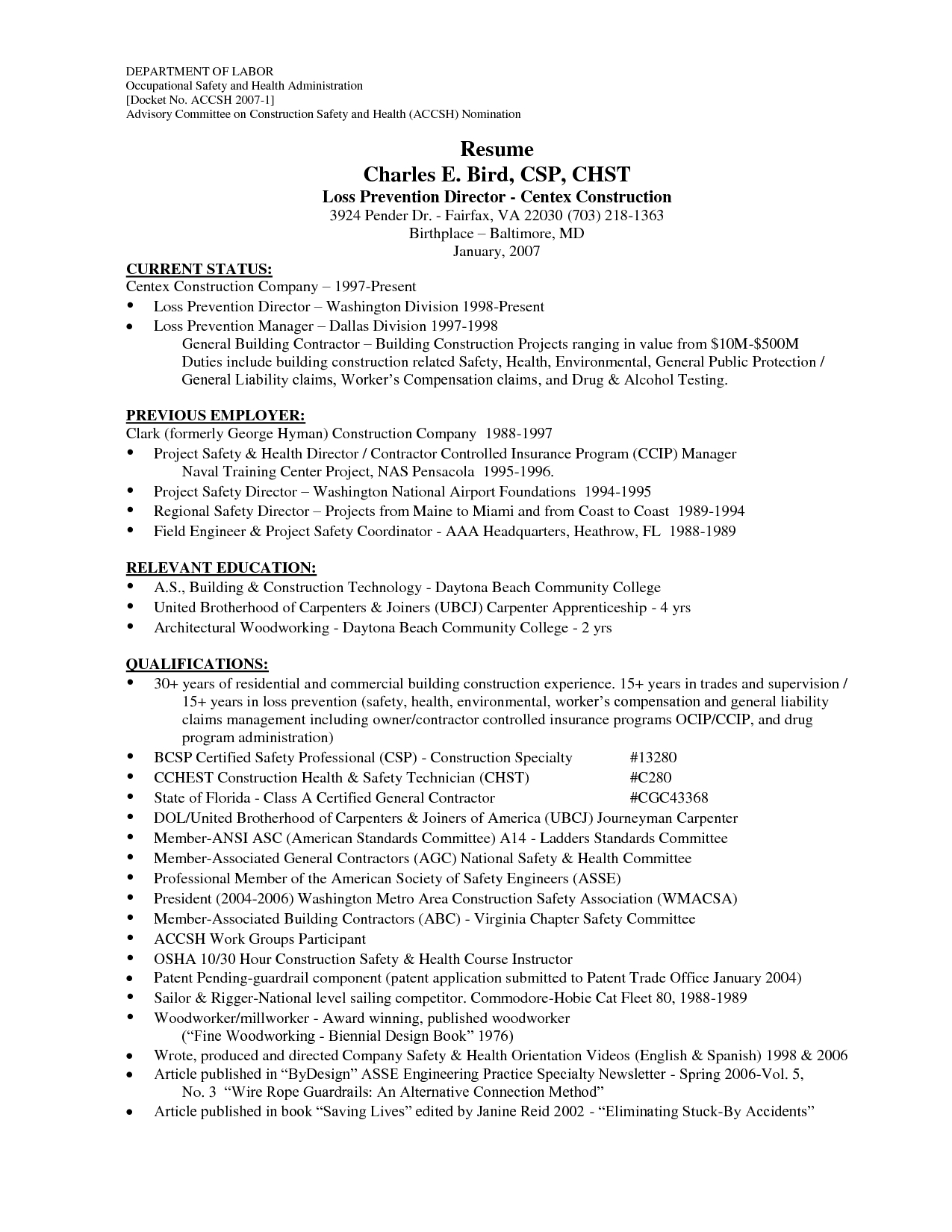 Cover Letter Template Joinery