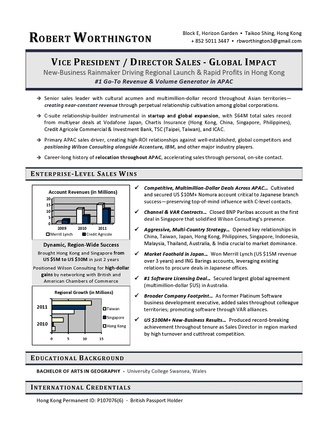 Resume Format Vice President