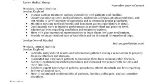 Cv Template Medical Doctor