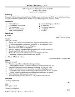 Cv Template Law