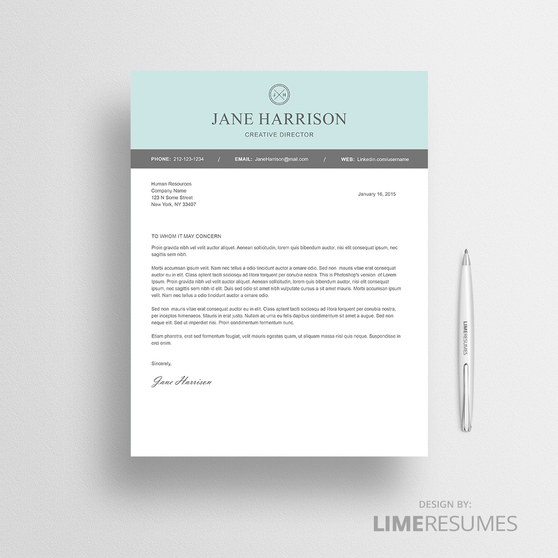 Cover Letter Template Modern