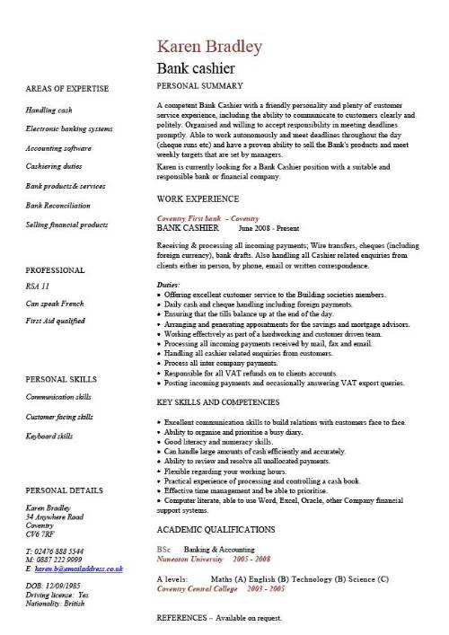 Cv Template Examples