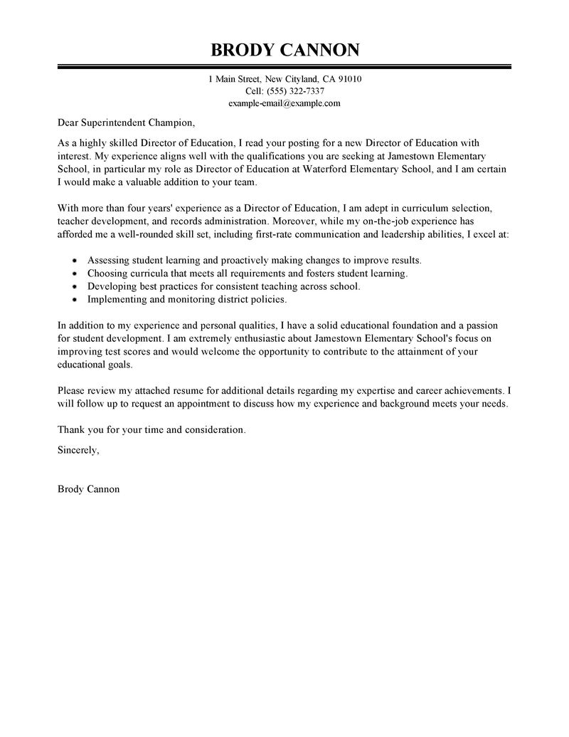 Cover Letter Template For Teachers