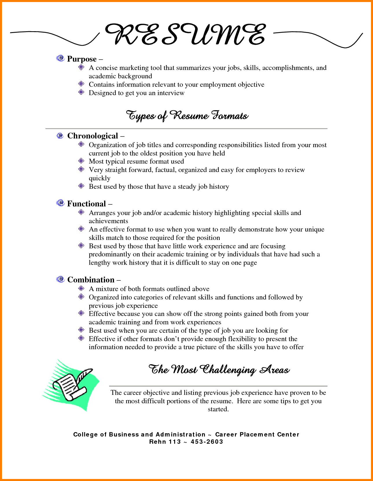 7 Different Resume Formats