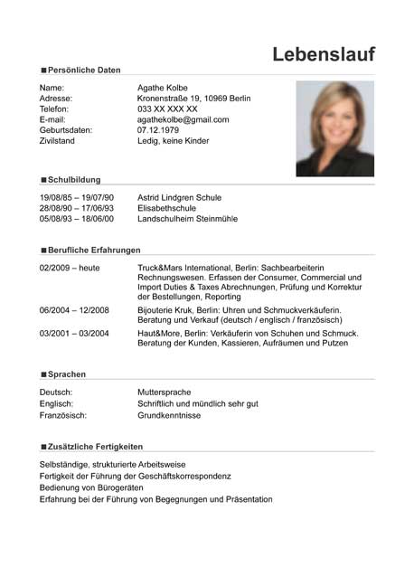 Cv Template Germany