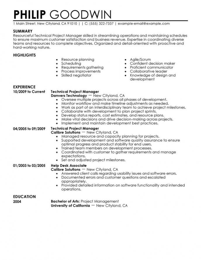 Resume Format Sample 2018