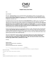 Cover Letter Questionnaire Template