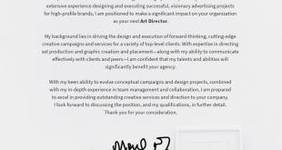 Cover Letter Template Design