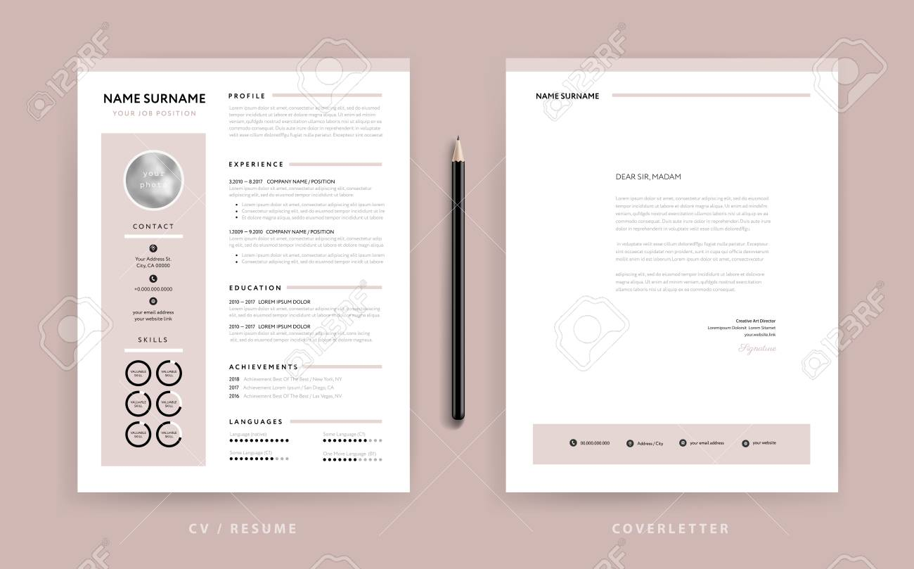 Cover Letter Template Vector