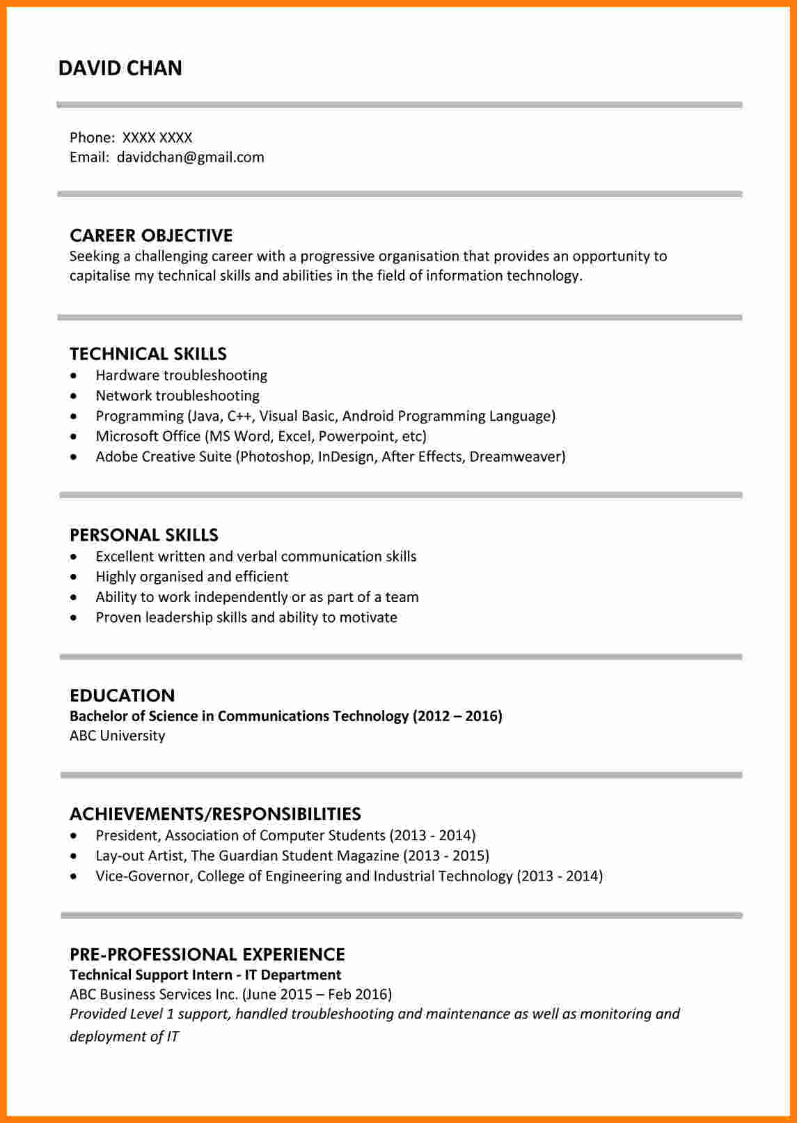 Cv Sample Jobsdb