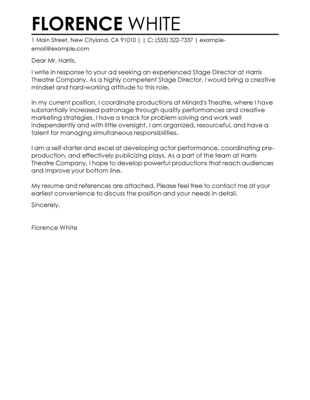 Cover Letter Template Medical