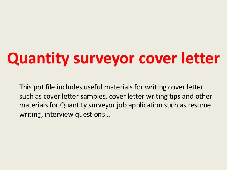 Cover Letter Template Quantity Surveyor