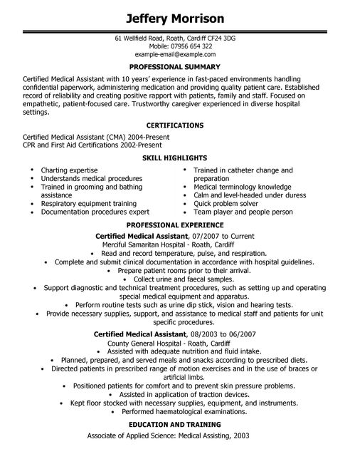 Cv Template For Doctors