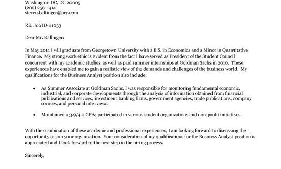 Cover Letter Template For Students