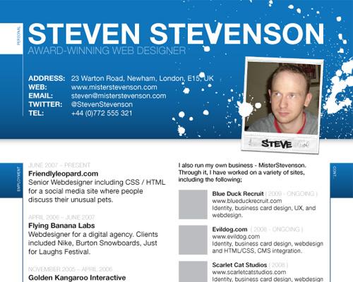 Resume Format Website