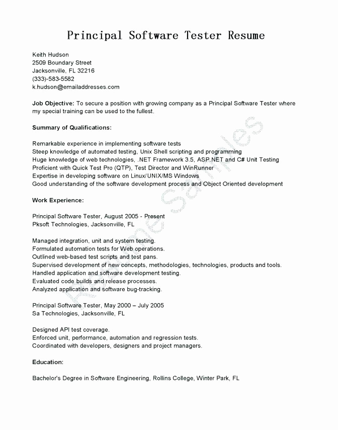 8 Years Experience Resume Format