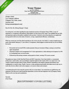 Example Of Cover Letter Template
