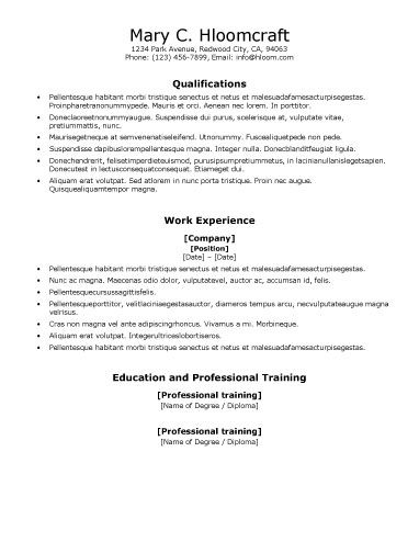 Resume Format For Ats
