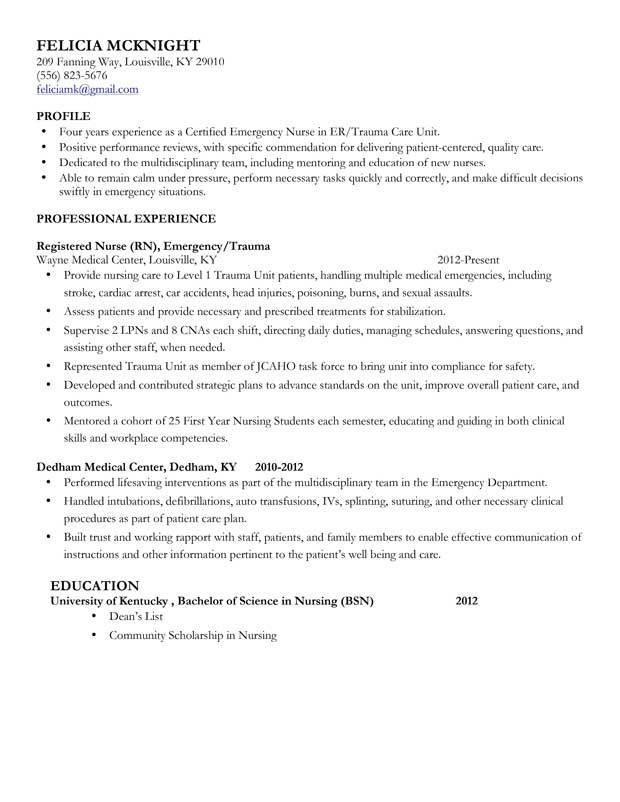 Cv Template Medical