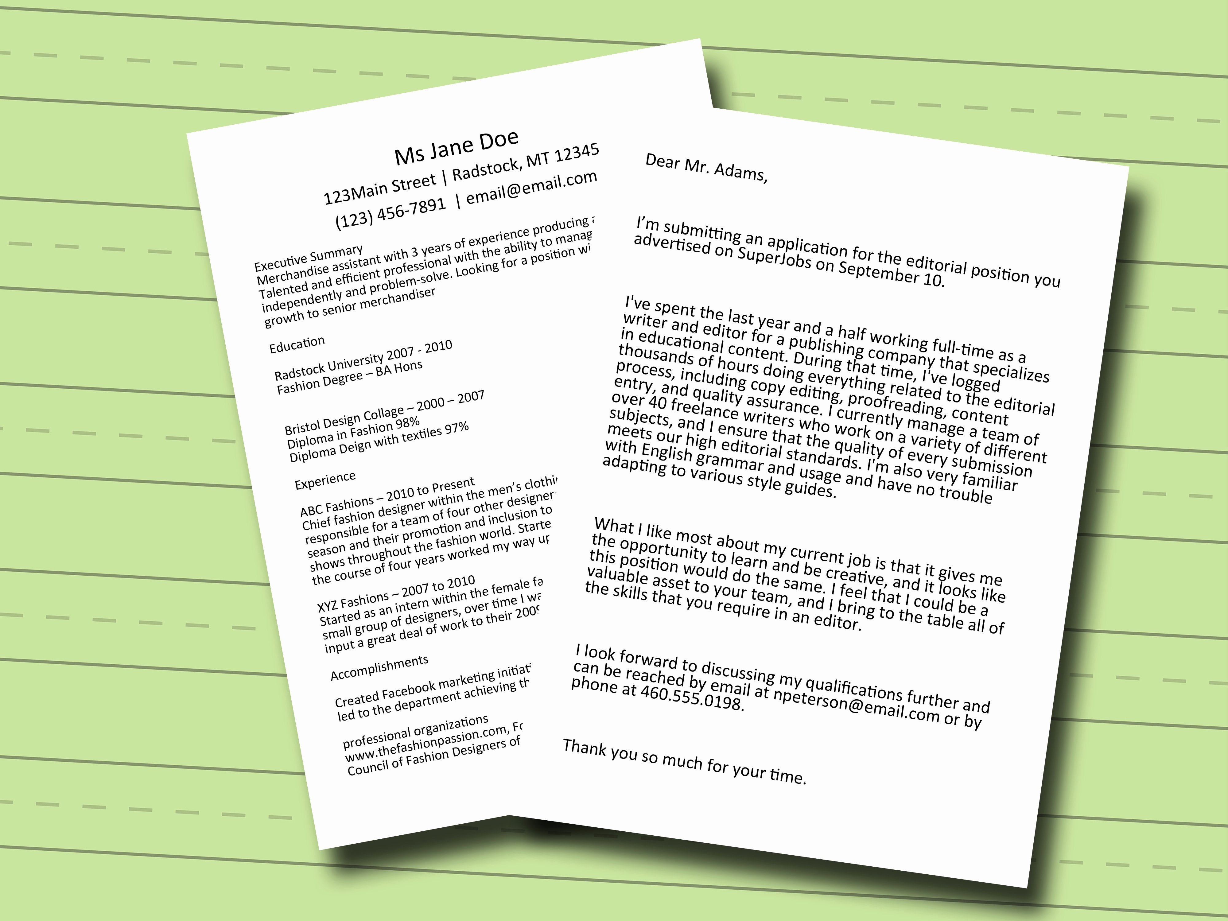 Cover Letter Template Wikihow
