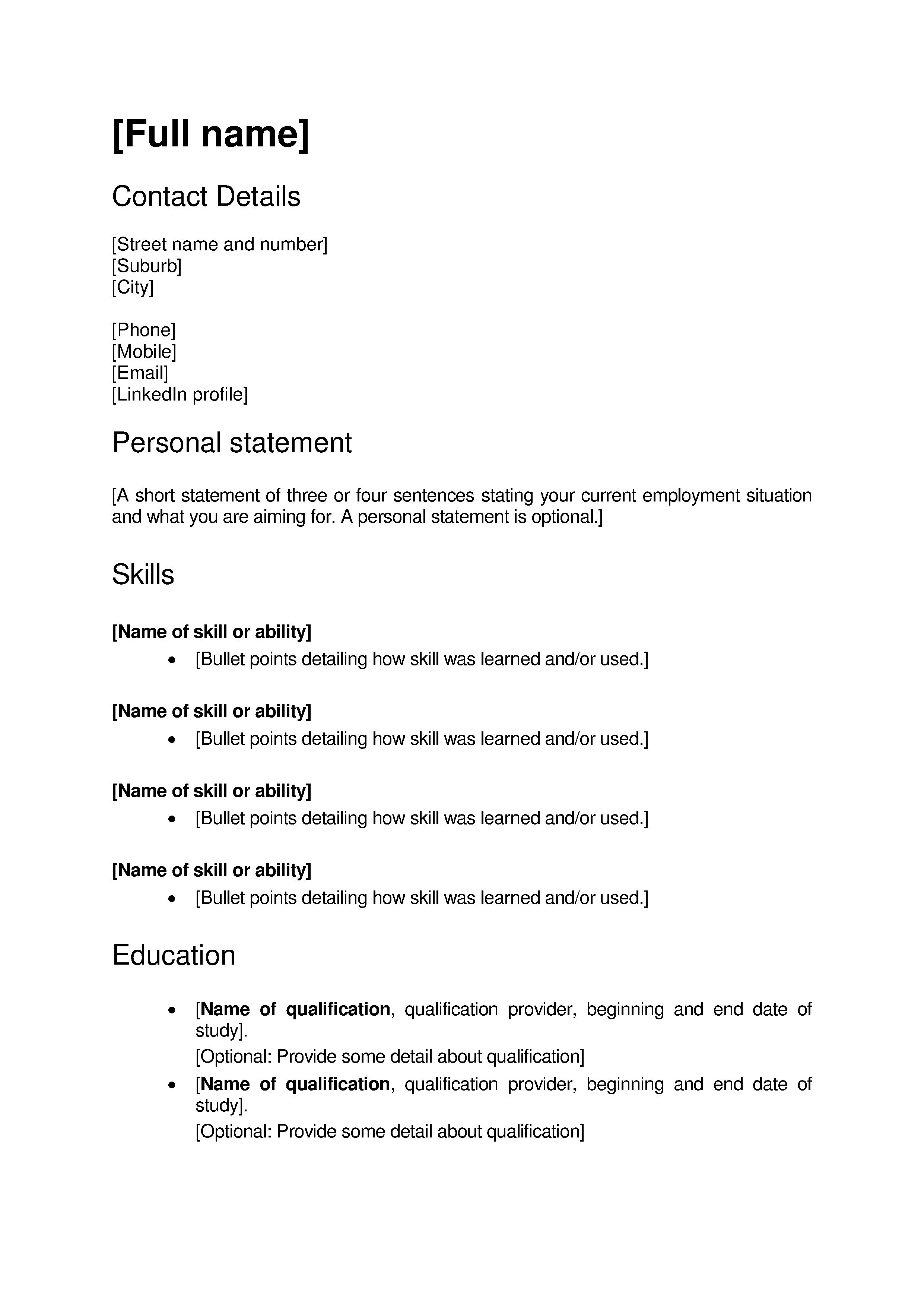 Cover Letter Template New Zealand