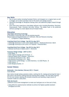 Cv Template 6Th Form Student