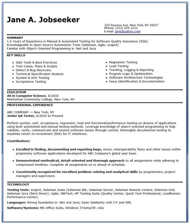 Resume Format For 5 Years Experience In Testing