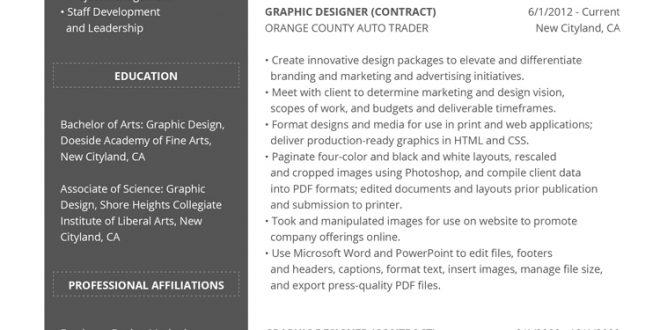 Resume Format Design