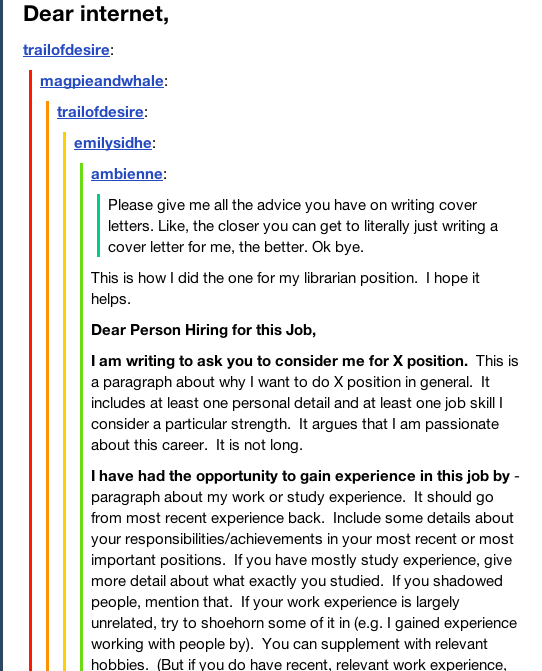 Cover Letter Template Tumblr