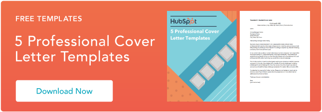 Cover Letter Template Hubspot