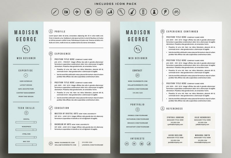 Cv Template For Pages