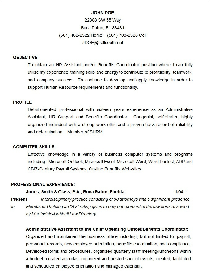 Cv Template 17 Year Old