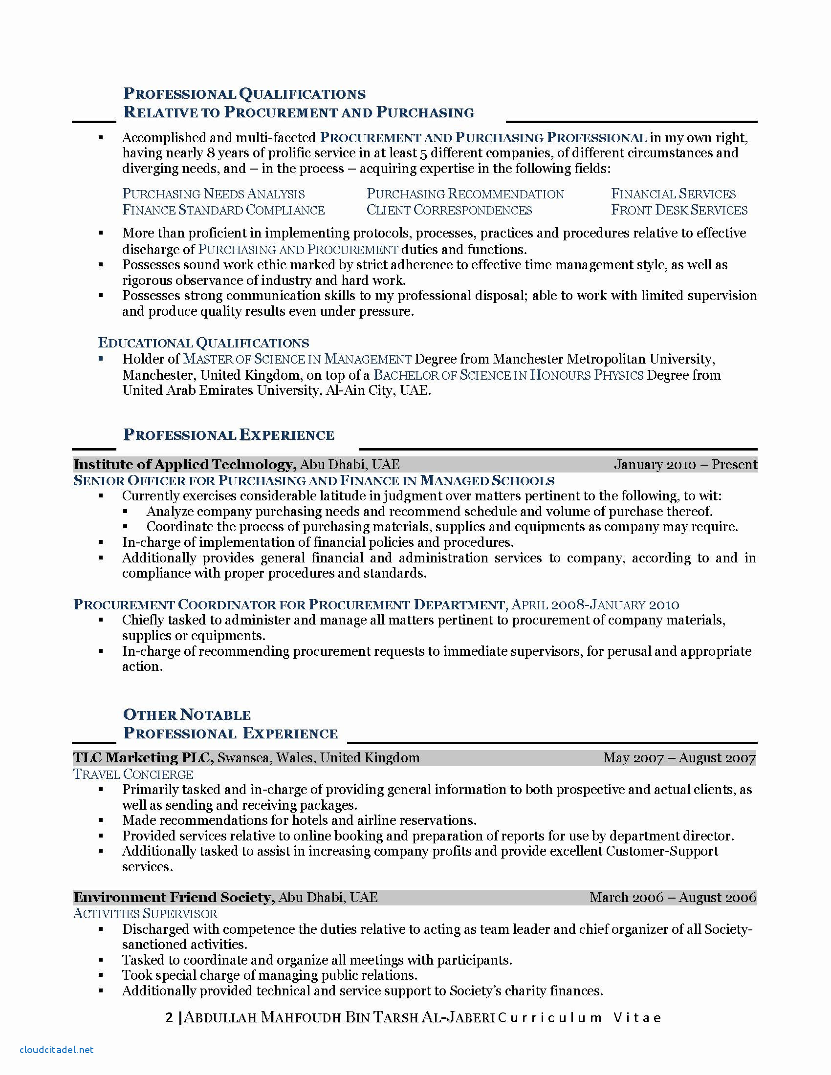 Resume Format For Msc Zoology