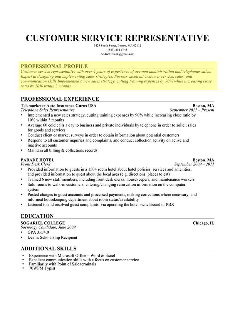 Resume Format Bullets Or Paragraph
