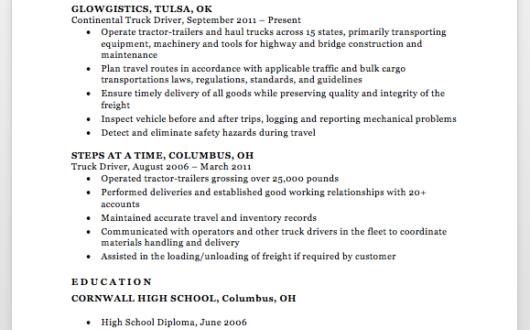 Resume Format Margins