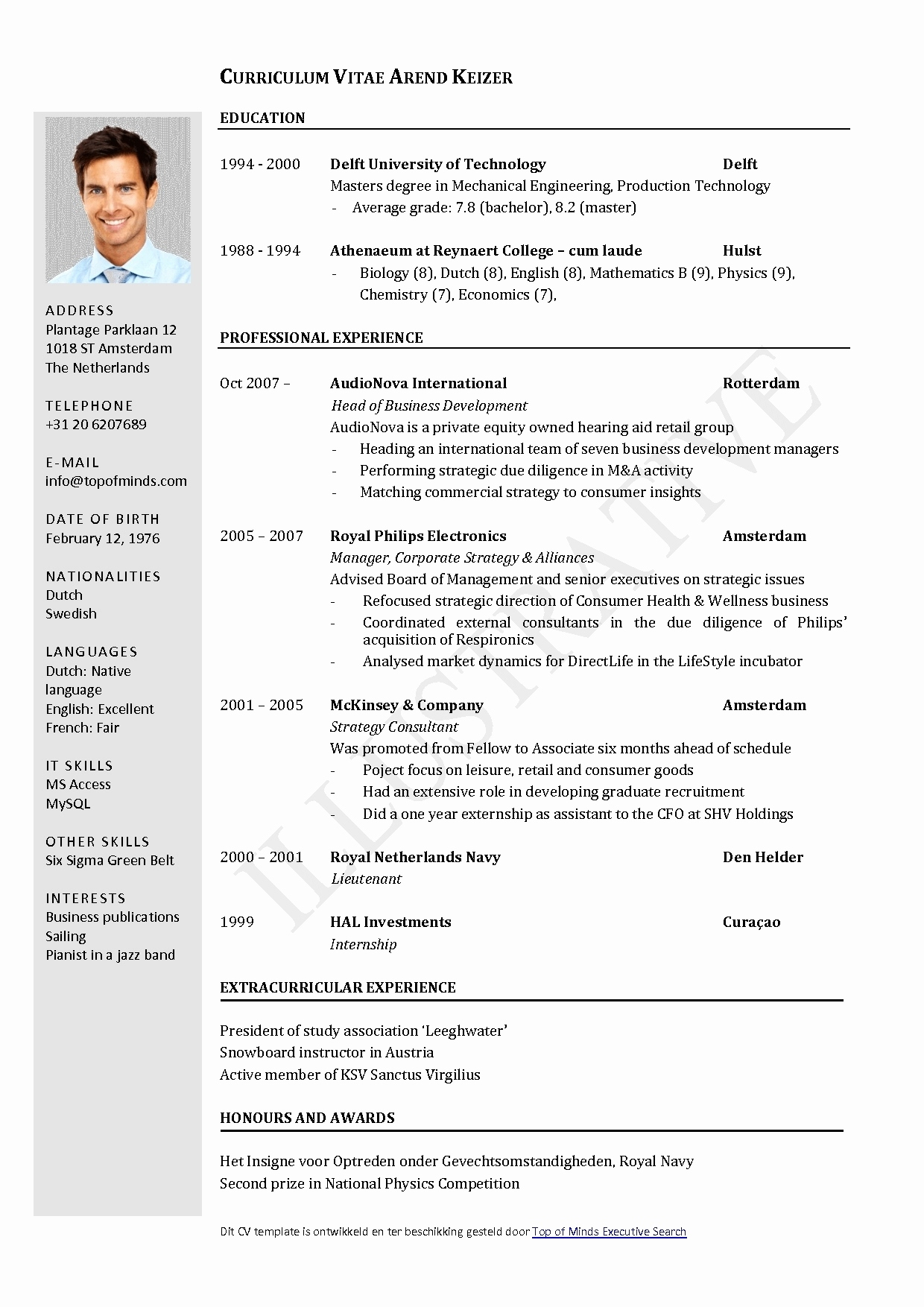 Cv Template Libreoffice