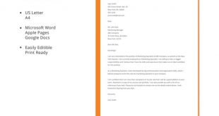 Cover Letter Template Simple
