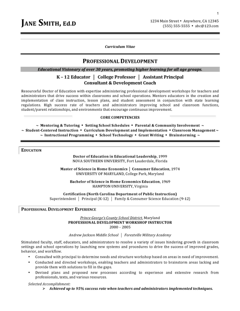 Cv Template Education